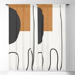 abstract minimal 53 Blackout Curtain