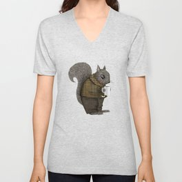 An Early Morning For Mister Squirrel Unisex V-Neck
