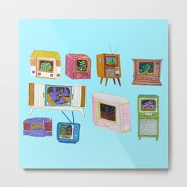 Television Terrariums  Metal Print