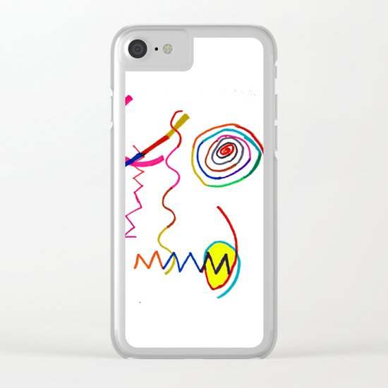 Funky Way Doodle Clear iPhone Case