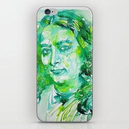 PARAMAHANSA YOGANANDA - watercolor portrait iPhone Skin
