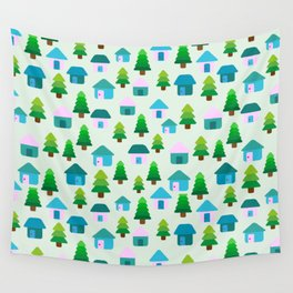 Home in Baby Mint Wall Tapestry