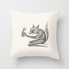 'Offering' - Grey Throw Pillow