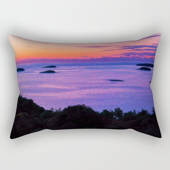 Sunset at sea Rectangular Pillow