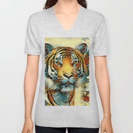 AnimalArt_Tiger_20170605_by_JAMColorsSpecial Unisex V-Neck