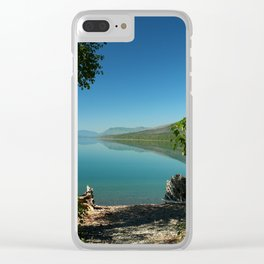 Moody Lake McDonald Clear iPhone Case