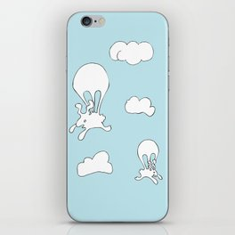 PARACHUTING BUNNIES! iPhone Skin