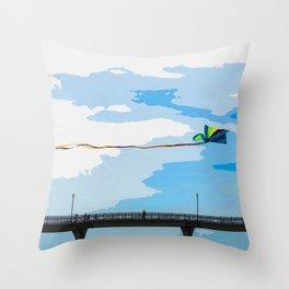 Chasing the Kite Throw Pillow
