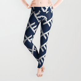 Stitched Arrows in Navy Leggings