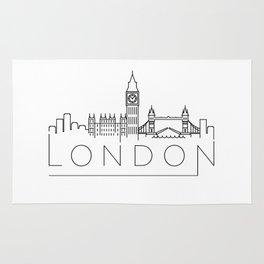 Minimal London Skyline Design Rug