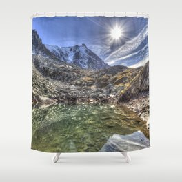 Mont Blanc Glacier Lake Shower Curtain