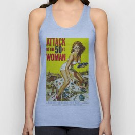 Attack Of The 50 Foot Woman, vintage horror movie poster Unisex Tank Top
