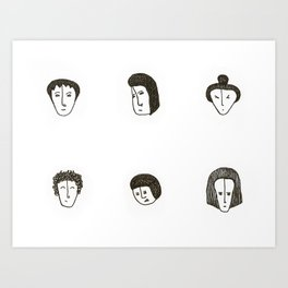 The small faces Art Print