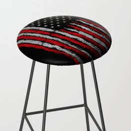 Red & white Grunge American flag Bar Stool