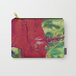 Red Hibiscus Flower Bloom Carry-All Pouch