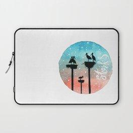 Storks Watercolor Laptop Sleeve