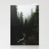 backpack Stationery Cards featuring Rainier Creek by Kevin Russ