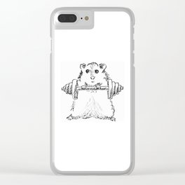 Hamster Workout Clear iPhone Case