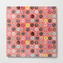 donuts coral pink Metal Print