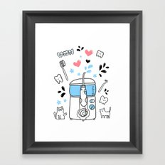 Dental hygiene Framed Art Print