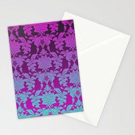 Ombre Damask Stationery Cards