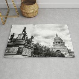 Austin - Capital Of Texas -  Black and White Rug