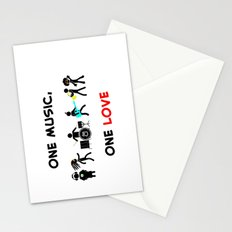 One Music, One Love Stationery Cards
