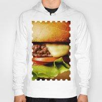 hamburger Hoodies featuring Hamburger by Mauricio Togawa