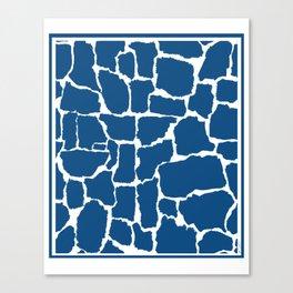 Classic Blue Giraffe Canvas Print