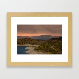 Good Morning Lake Pleasant  Framed Art Print