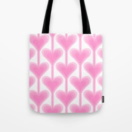 Retro-Delight - Melting Hearts - Pink Tote Bag