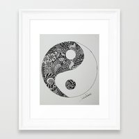 yin yang Framed Art Prints featuring Yin Yang by Ian Nicholson