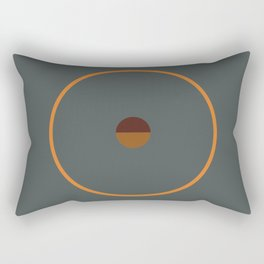 catch || anthracite & ocher Rectangular Pillow