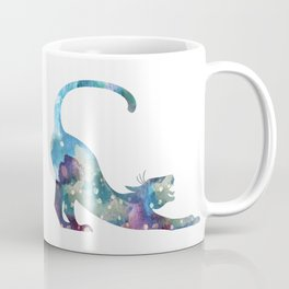 Stretching Cat Watercolor Painting Coffee Mug