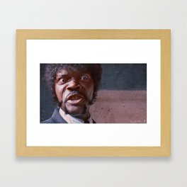 Great Vengeance And Furious Anger - Pulp Fiction Framed Art Print