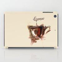 coffe iPad Cases featuring coffe by tatiana-teni