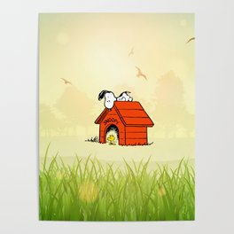 Snoopy dreaming Poster