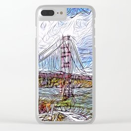 Golden Gate Bridge abstract Clear iPhone Case