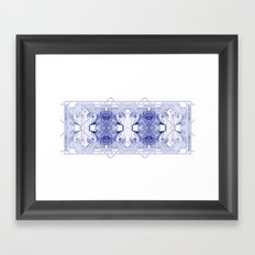 The Willow Pattern (Blue variation) Framed Art Print