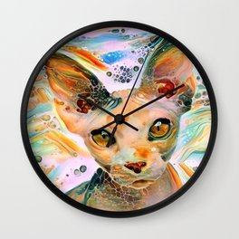 Liquid Amber Eyes Wall Clock