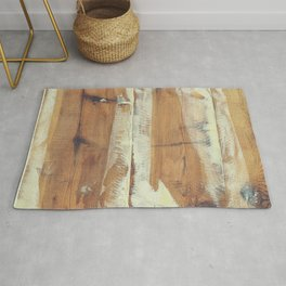 Wood planks shipboard Rug