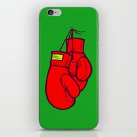boxing iPhone & iPod Skins featuring Boxing Gloves by Artistic Dyslexia