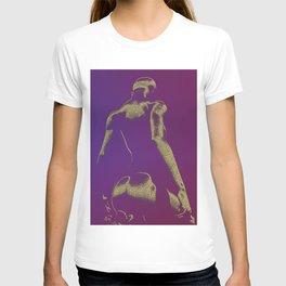 Golden Seated Goddess purple version T-shirt
