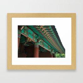 Korean Roof Framed Art Print
