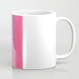 Pink with Pink Glitter Fade + Turquoise  Coffee Mug
