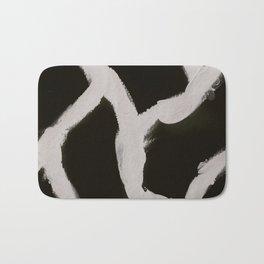 Cracking, Abstract, Black & White Bath Mat