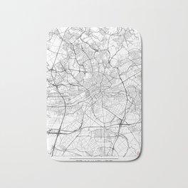 Frankfurt Map White Bath Mat