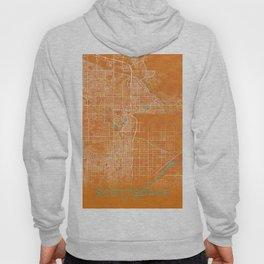 Scottsdale, AZ, USA, Gold, Blue, City, Map Hoody