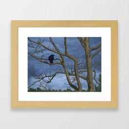 Crow Tree Framed Art Print