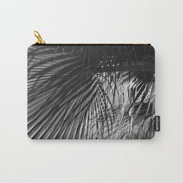 Palm Leaves Upshot Art Photo In Noir Carry-All Pouch